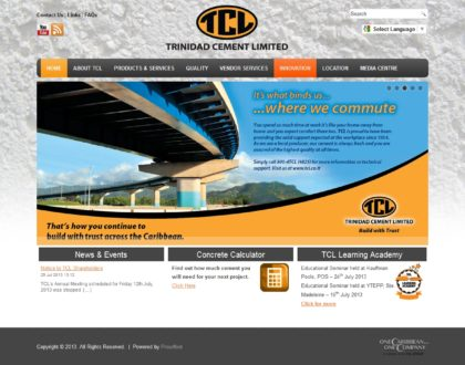 Trinidad Cement Limited (TCL) Website