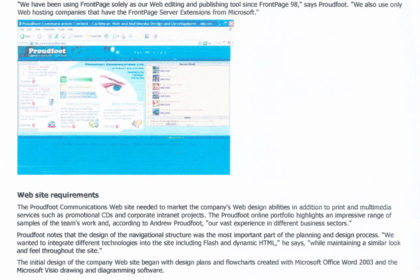 Microsoft Office FrontPage Feature