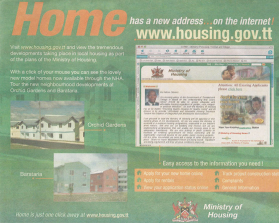 Ministry of Housing Website
