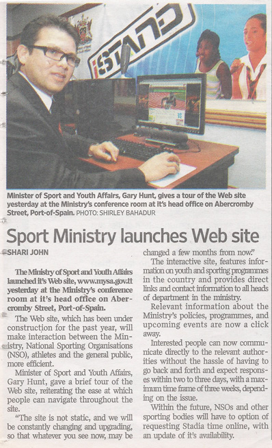 The Ministry of Sport and Youth Affairs Website